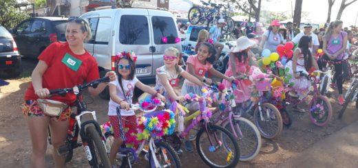 Bicicleteada solidaria en San Javier a beneficio del hogar de ancianos Santa Marta