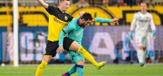 Con la vuelta de Messi, Barcelona igualó con el Borussia Dortmund