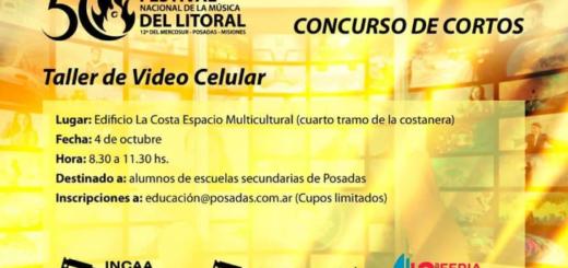 El realizador cinematográfico Rodrigo Paz brindará un taller sobre video celular para estudiantes secundarios