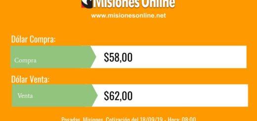 El dólar cotiza estable y en Posadas se vende a $62,00