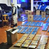Prefectura impidió el ingreso al país de un cargamento de cigarrillos ilegales valuado en cerca de 1.500.000 pesos