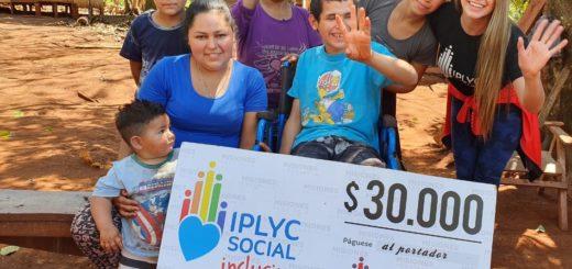 Con el cheque de IPLyC Inclusivo harán el piso de su casa