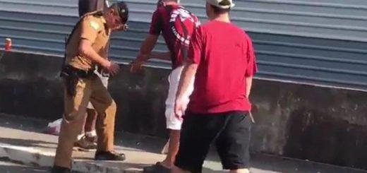 Impactante: un hincha de Atlético Paranaense perdió su mano después que le explote una bomba de estruendo