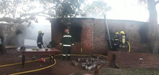 Incendio consumió una vivienda en Jardín América