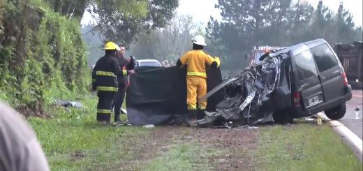 Un muerto en colisión frontal sobre la Ruta 12 a la altura de Garuhapé