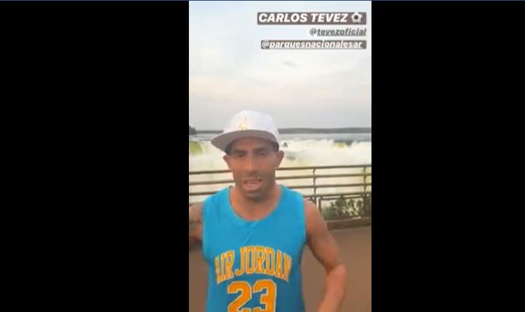Carlos Tevez disfrutó de unas mini vacaciones en las Cataratas del Iguazú