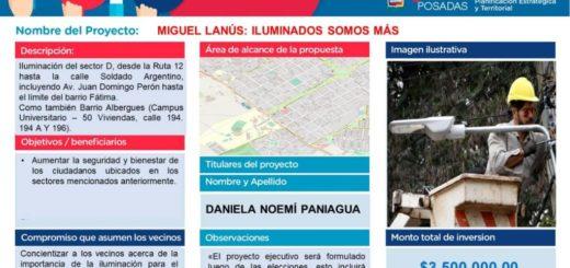 Miguel Lanús optó por iluminación Led en el barrio