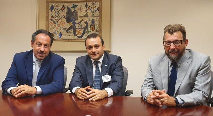 Directivos del BID se reunieron con Herrera Ahuad y plantearon interés en financiar el desarrollo productivo y de la robótica en Misiones
