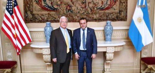 Oscar Herrera Ahuad y el embajador Prado hablaron sobre turismo, educación y cooperación entre Misiones y Estados Unidos
