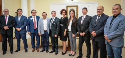 Oscar Herrera Ahuad recibió a referentes del congreso inmobiliario