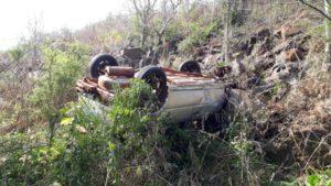 El Soberbio: despistaron y cayeron a un precipicio