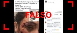 """Falso en las redes: No, un """"grupo de jóvenes K"""" no golpeó a una empleada de Awada en la protesta de la CTEP en un shopping"""