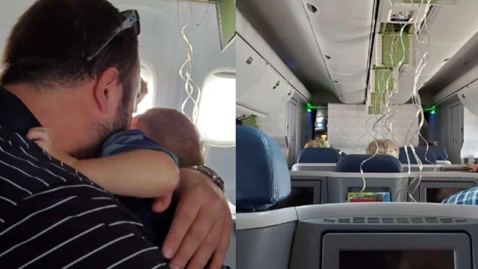 Un avión cayó 9 mil metros y los pasajeros comenzaron a despedirse de sus seres queridos