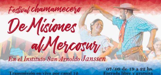 """Hoy se realizará el reconocido festival chamamecero """"De Misiones al Mercosur"""" en el Instituto Janssen"""