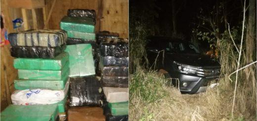 Montecarlo: tras investigaciones, la Policía halló un escondite narco con marihuana y una camioneta robada