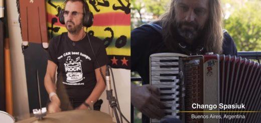 """El """"Chango"""" Spasiuk y Ringo Starr tocaron juntos en una nueva producción de Playing for a Change"""