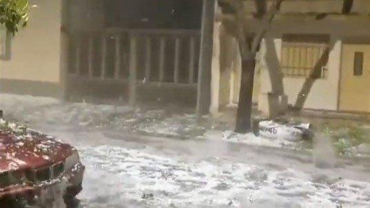Video: el violento granizo en Pergamino en medio del temporal