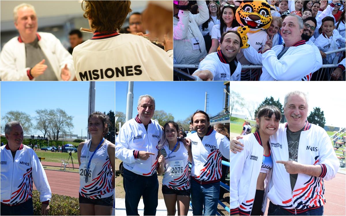 El gobernador de Misiones, Hugo Passalacqua, acompaña a la delegación misionera en los Juegos Nacionales Evita