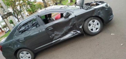 Un remisero resultó con lesiones tras colisionar con otro automovilista esta mañana en Posadas