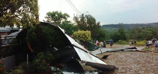 Confirmaron que son 20 las viviendas afectadas por el temporal que se desató el último fin de semana en San Vicente