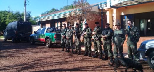En operativo de alto impacto, se logró la detención de seis personas, armas y motocicletas