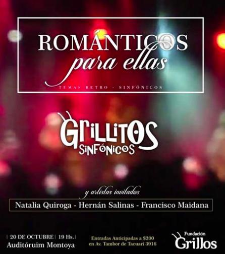 """En el Día de la Madre Grillitos Sinfónicos presenta """"Románticos para ellas"""""""