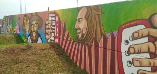 """El sábado y con la presencia del """"Chango"""" Spasiuk, inaugurarán en Posadas el mural más grande del mundo"""