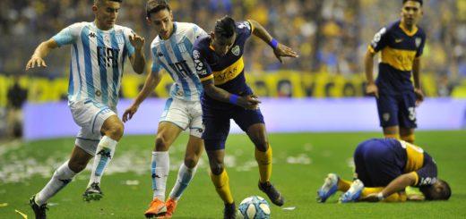 Un Boca alternativo cayó ante Racing en la Bombonera y perdió el invicto en la Superliga