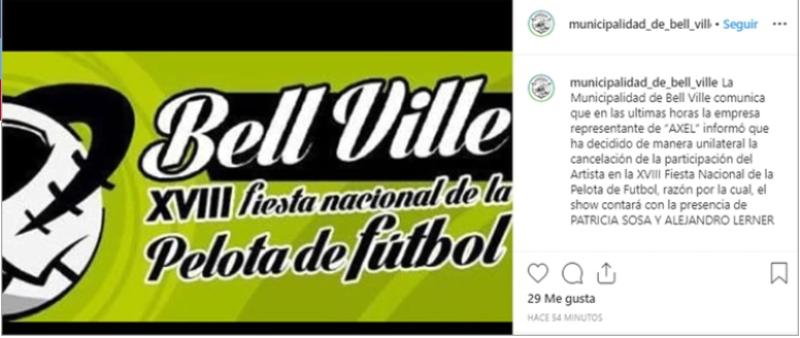 Luego de la denuncia en su contra por abuso sexual, Axel canceló un recital en Córdoba