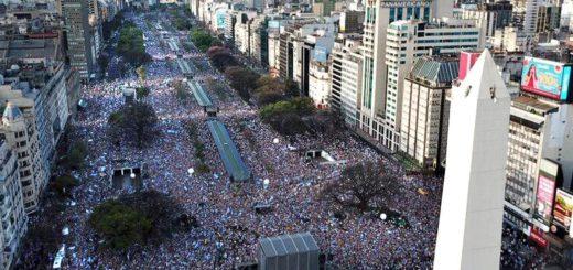 La marcha del millón: cuántas personas fueron al acto de Mauricio Macri
