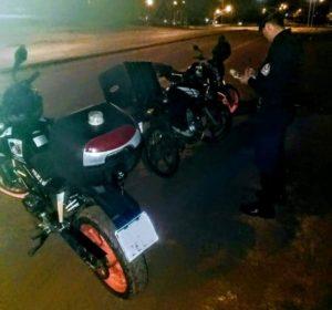 Oberá: cinco detenidos; motocicletas y licencias retenidas en el marco del Operativo de Nocturnidad