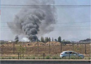 Disturbios en Chile: cinco personas murieron en un incendio en una fábrica y saquearon una distribuidora de Coca Cola