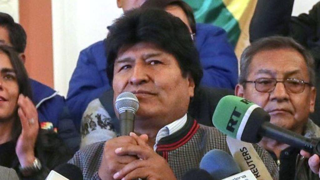 Evo Morales se proclamó ganador de las elecciones y denunció un golpe de Estado en Bolivia