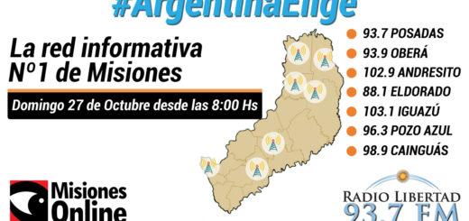 Misiones Online y las 7 emisoras de Radio Libertad realizarán una cobertura conjunta de las elecciones durante todo el domingo