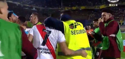 River contrató al empleado de seguridad despedido por festejar con los jugadores en la Bombonera
