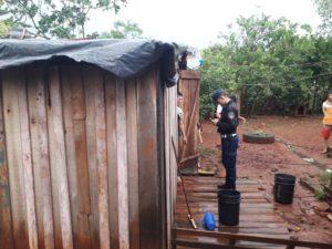 El intenso temporal causó destrozos en una escuela de Puerto Iguazú
