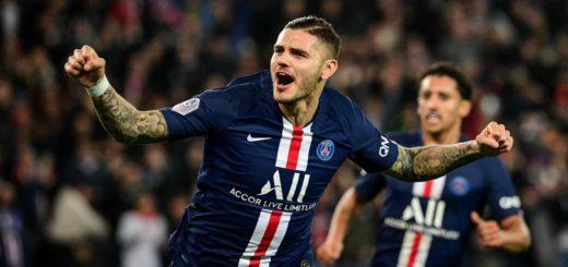 Con un doblete de Icardi, el PSG goleó a Olympique Marsella en el clásico francés