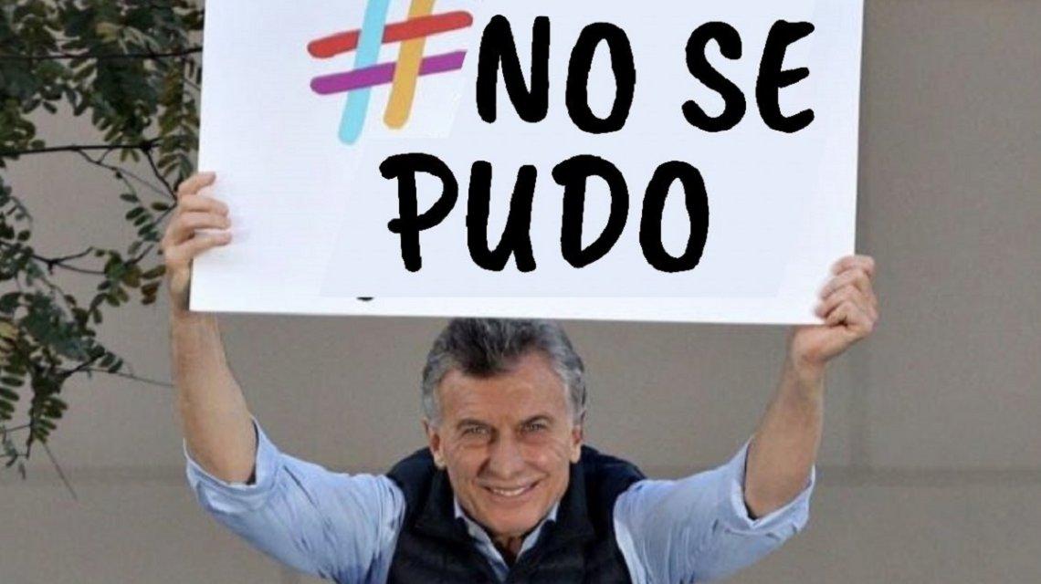 «No se pudo»: la respuesta en forma de meme al «Sí, se puede» de Macri que es tendencia en las redes