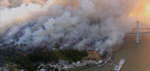EEUU: evacuaron a más de 180 mil personas por un devastador incendio forestal en Sonoma, California