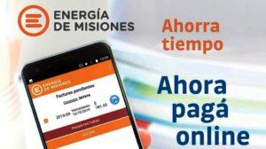 Desde Energía de Misiones anuncian que se puede pagar la factura con débito o crédito, desde el celular