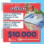 Hubo ganadores de la Poceada especial Eldorado y Puerto Iguazú