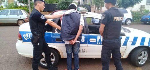Apóstoles: intentó robar a un hombre agrediéndolo con un cuchillo y minutos después fue detenido