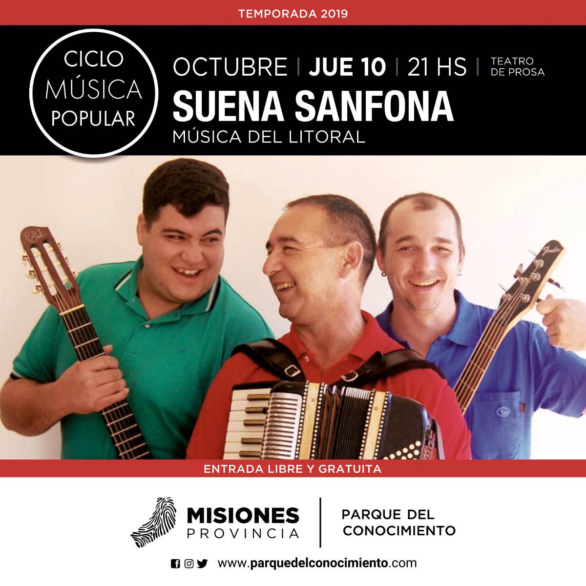 El grupo Suena Sanfona se presenta este jueves en el marco del Ciclo de Música Popular