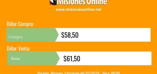 El dólar bajó 50 centavos en el inicio de la jornada cambiaria en Posadas y se vende a 61,50 pesos