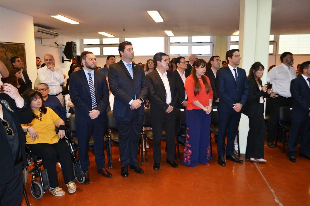 El presidente del STJ misionero junto al Gobernador Hugo Passalacqua, encabezó la jura de 8 nuevos magistrados
