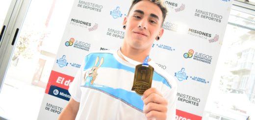 Francisco Benítez de Eldorado rompió su propia marca de Salto en Largo y obtuvo una medalla de oro en los Evita 2019