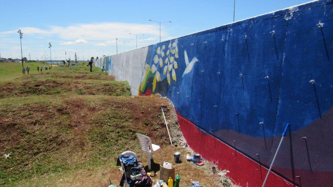 #OrgulloMisionero: continúan los trabajos para lograr que Posadas cuente con la pintura muralista más grande del mundo
