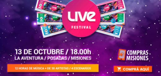 Live Festival en La Aventura: a dos días de la fiesta más increíble…¿Ya tenés tus entradas?...Adquirilas aquí por Internet y con tarjeta