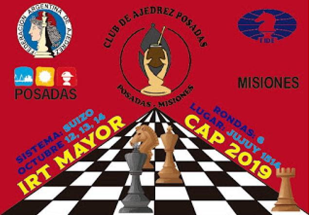 Los días 12, 13 y 14 de octubre se desarrollará el Torneo Mayor en el Club de Ajedrez Posadas