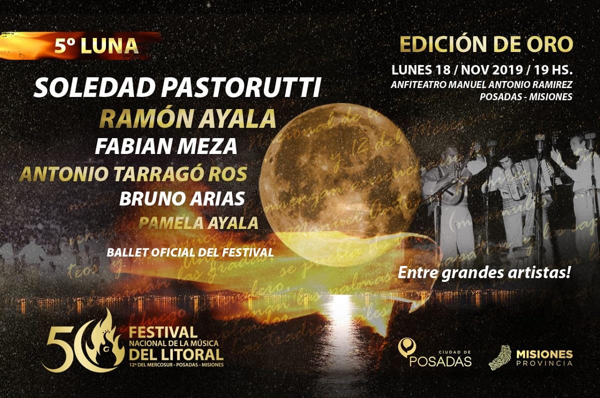 La Sole, Jorge Rojas, Dúo Coplanacu y Destino San Javier, los artistas destacados que tendrá la edición de Oro del Festival del Litoral